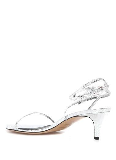 Etoile Isabel Marant Isabel Marant  Tek Bantlı Kadın Deri Sandalet 101550643 Gümüş